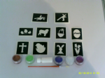 Easter themed glitter tattoo set for  including 5 pots of colour +  glue   children   present   Fund Raising